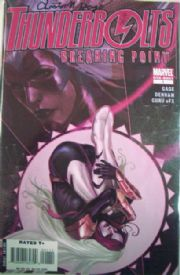 Thunderbolts Breaking Point Dynamic Forces Signed Christos Gage DF COA Ltd 10 Marvel comic book